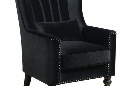 Black Velvet Accent Chair