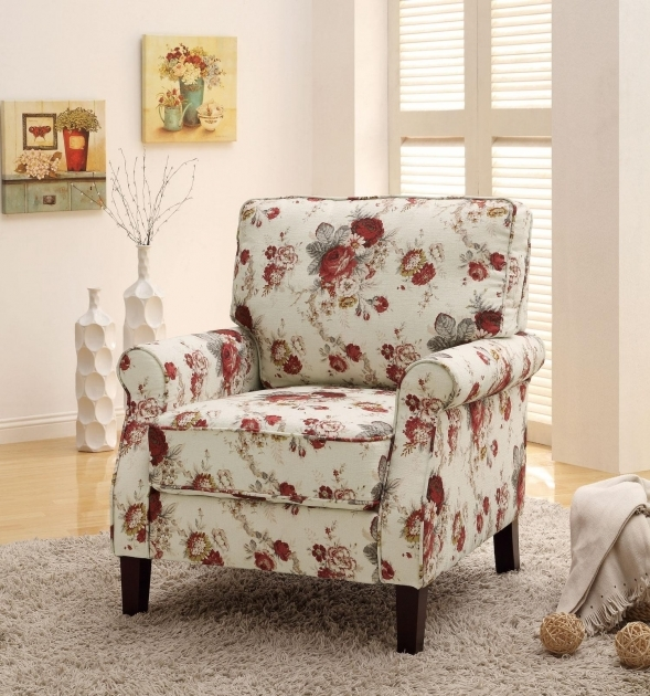 Fantastic Red And White Accent Chair Picture