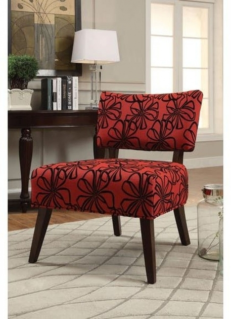 Fantastic Red Pattern Accent Chair Photo
