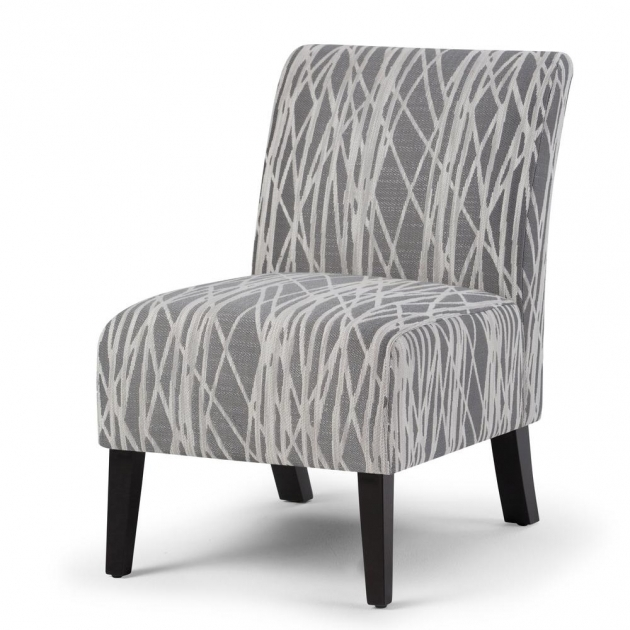 Fascinating Grey Patterned Accent Chair Pictures