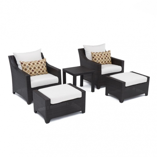 Fascinating Patio Chairs With Ottoman Photo