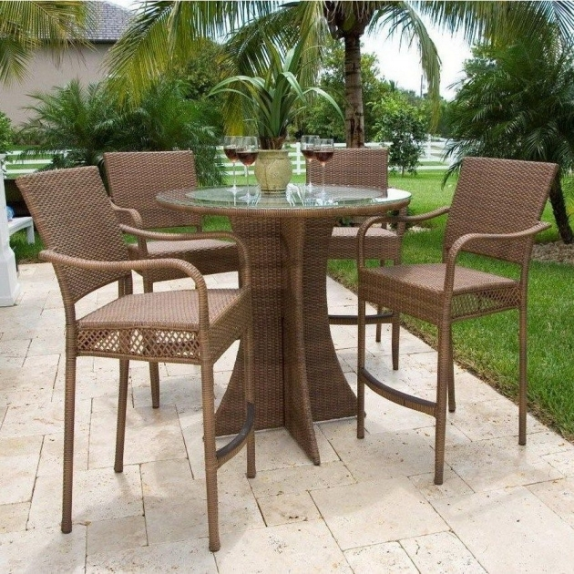 Fascinating Patio Tall Table And Chairs Pics