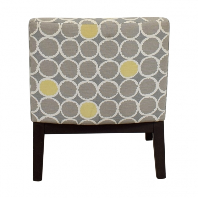Fascinating Yellow And Gray Accent Chair Image