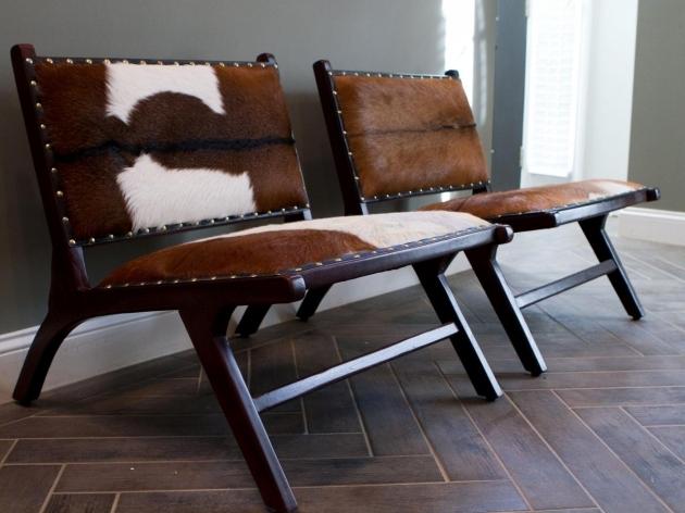 Fresh Cowhide Accent Chair Pic