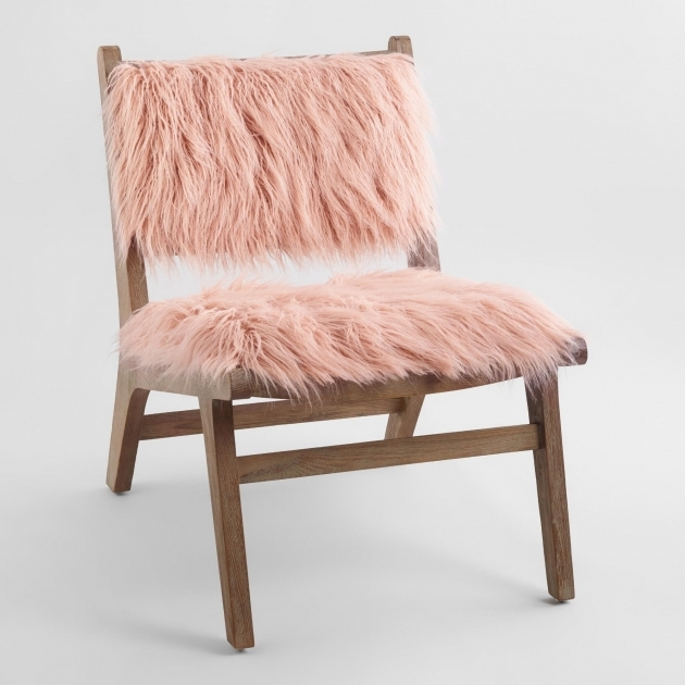 Fresh Light Pink Accent Chair Image