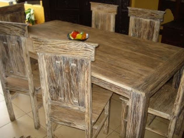 Fresh Rustic Kitchen Tables And Chairs Picture