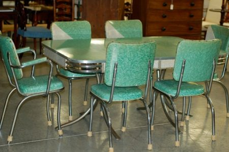 1950S Formica Kitchen Table And Chairs
