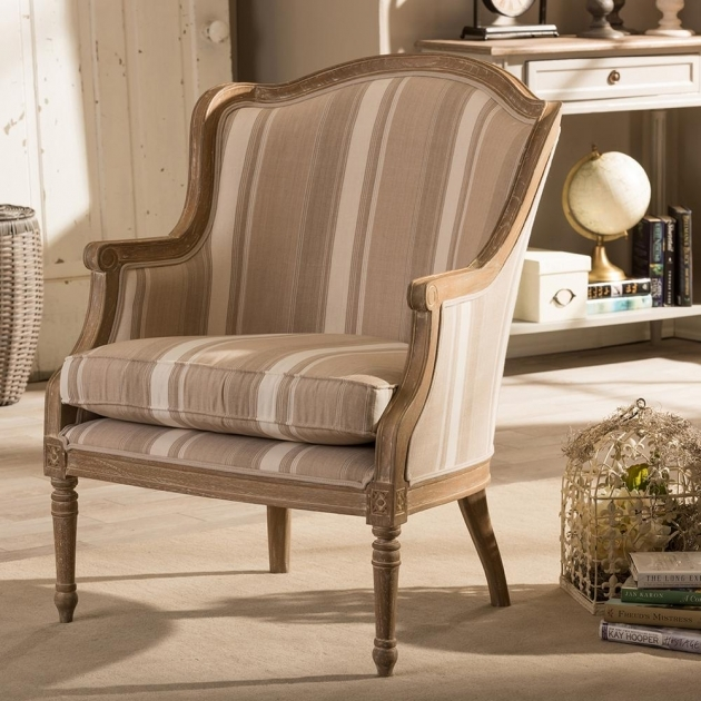 Glamorous Striped Accent Chairs Image