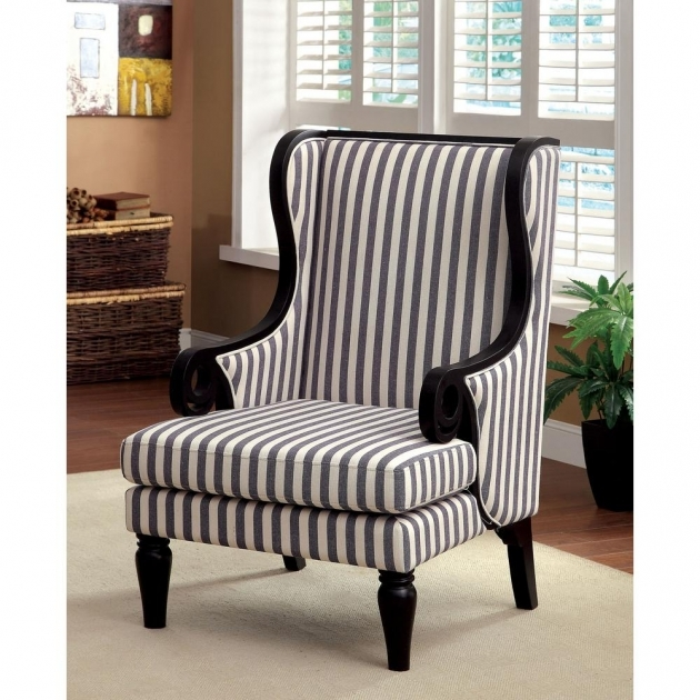 Good Blue And White Accent Chair Image