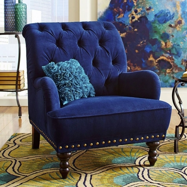 Good Royal Blue Accent Chair Image