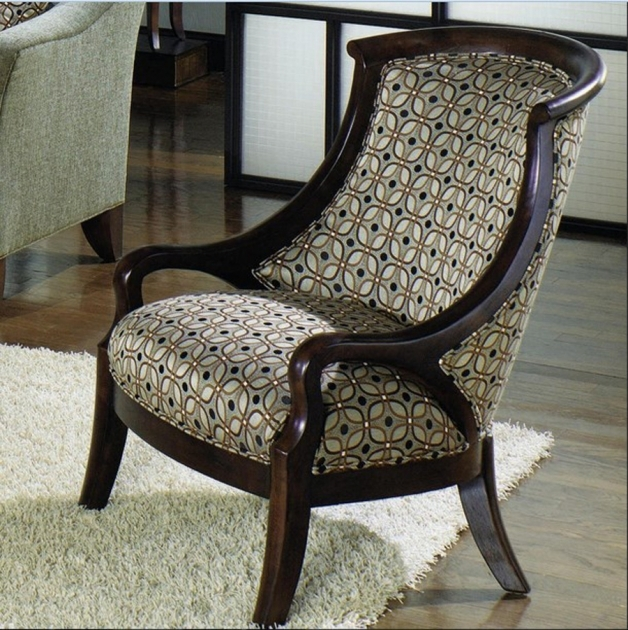 Gorgeous Accent Chairs With Wood Arms Photo
