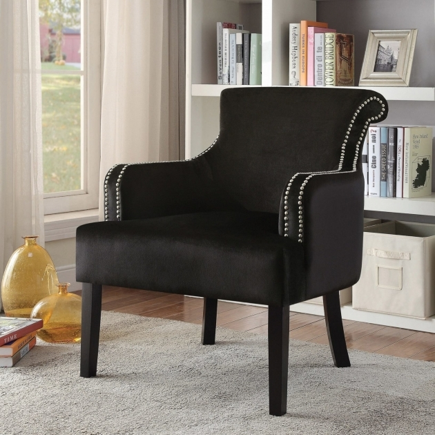 Gorgeous Black Velvet Accent Chair Pictures