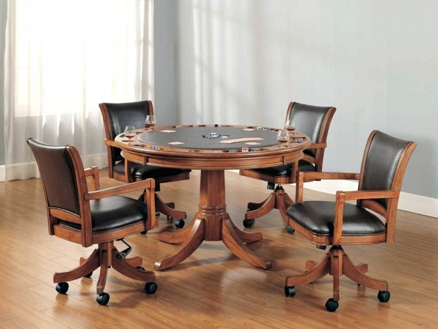 Gorgeous Kitchen Table With Rolling Chairs Pictures