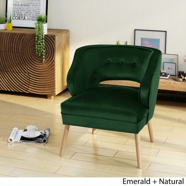 Great Emerald Green Accent Chair Photo