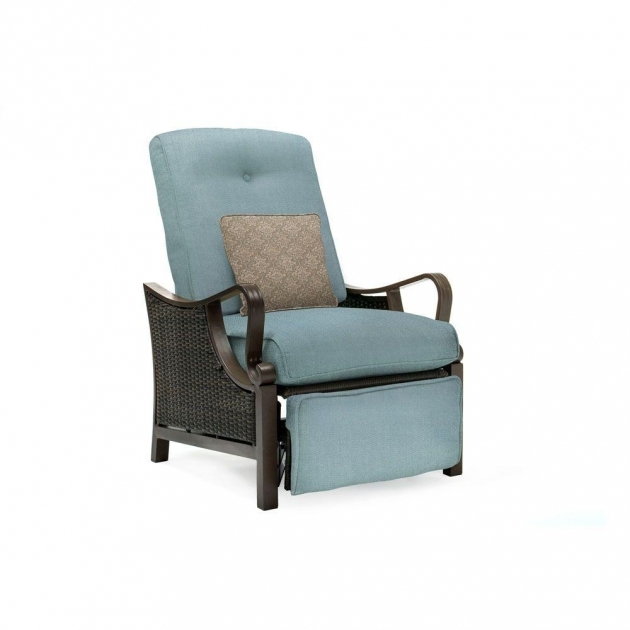 Great Wicker Reclining Patio Chair Image