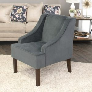 Grey Accent Chair With Arms