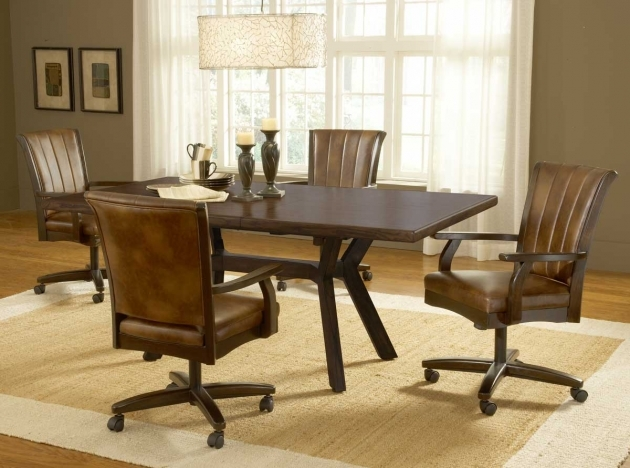 Incredible Kitchen Table And Chairs With Wheels Photo