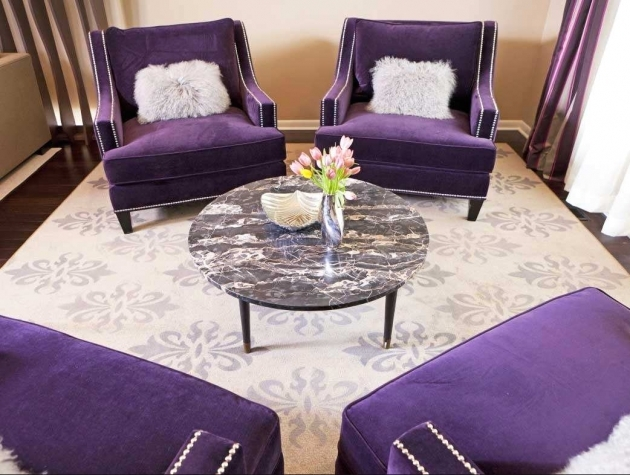 Incredible Purple Accent Chairs Living Room Pic