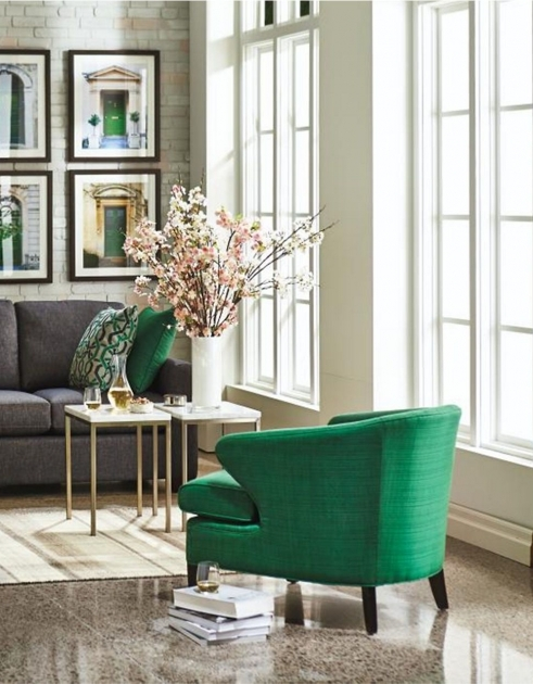 Inspiring Emerald Green Accent Chair Image