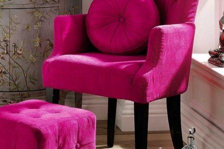 Fuschia Accent Chair