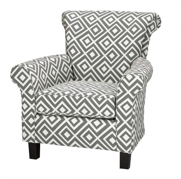 Inspiring Grey Patterned Accent Chair Picture