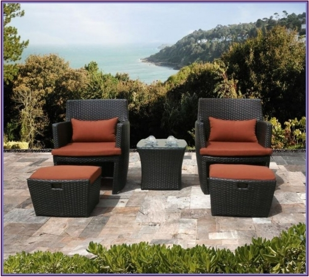 Inspiring Patio Chair With Hidden Ottoman Photo