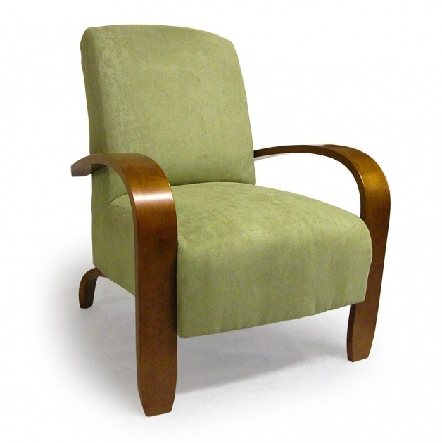 Interesting Accent Chairs With Wood Arms Photo