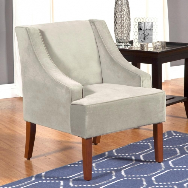 Interesting Accent Chairs With Wood Arms Pic