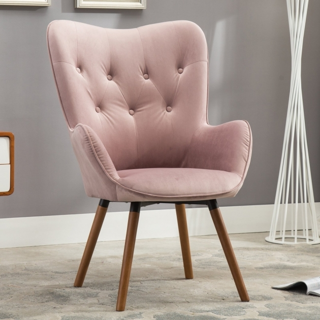 Interesting Hot Pink Accent Chair Image