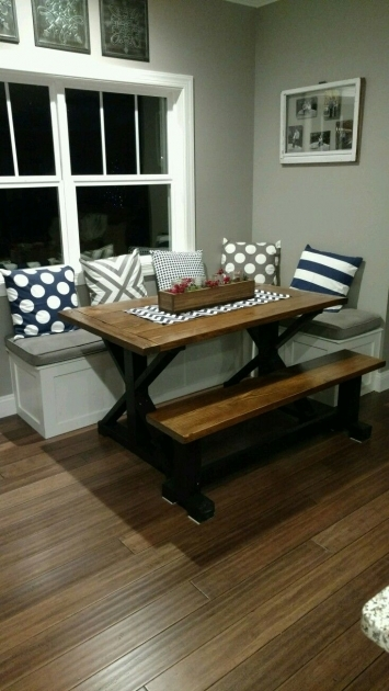 Interesting Kitchen Table With Bench Seating And Chairs Pictures