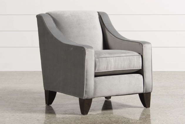Interesting Light Grey Accent Chair Picture