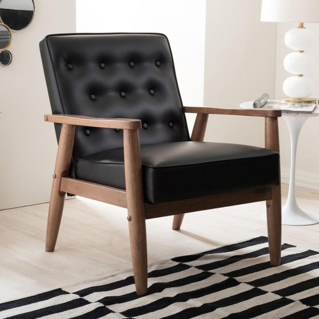 Interesting Small Leather Accent Chairs Image