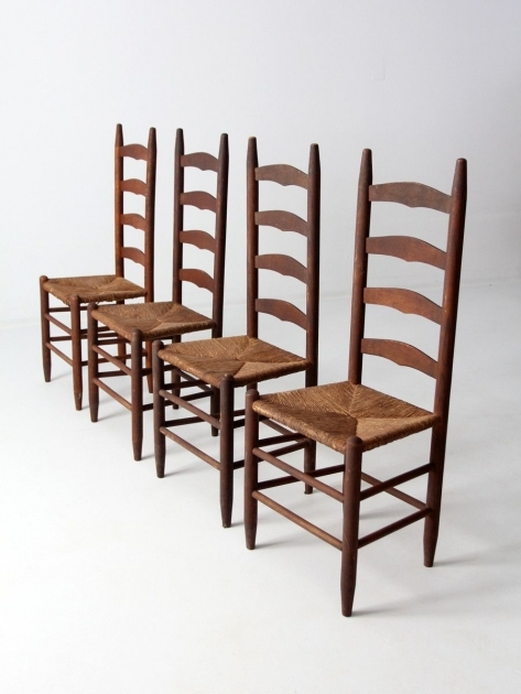 Interesting Wooden Ladder Back Kitchen Chairs Photos