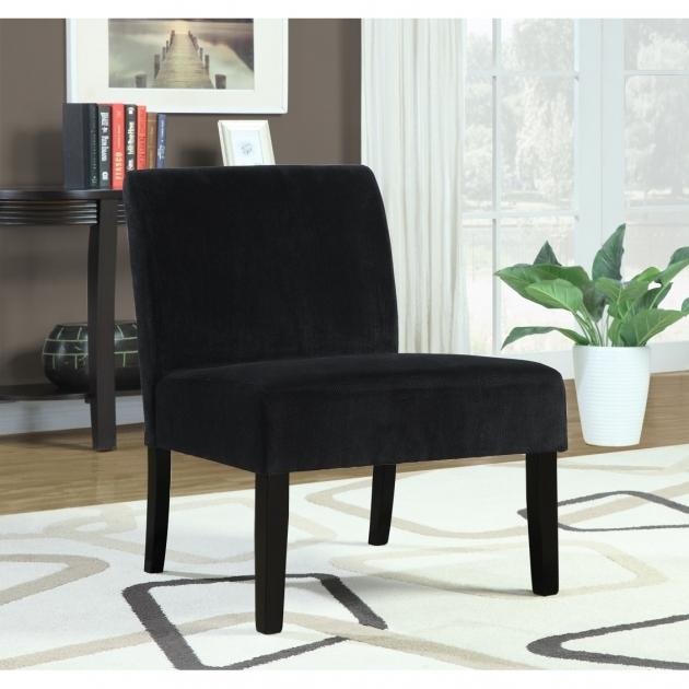 Luxurious Black Velvet Accent Chair Pics