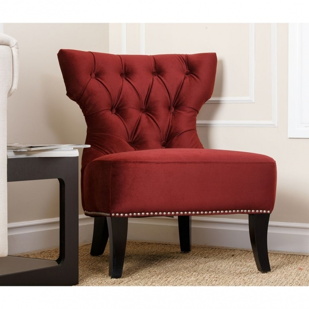 Luxurious Burgundy Accent Chair Pic