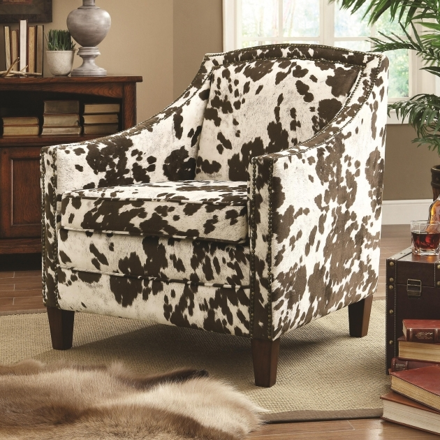 Luxurious Cowhide Accent Chair Photos