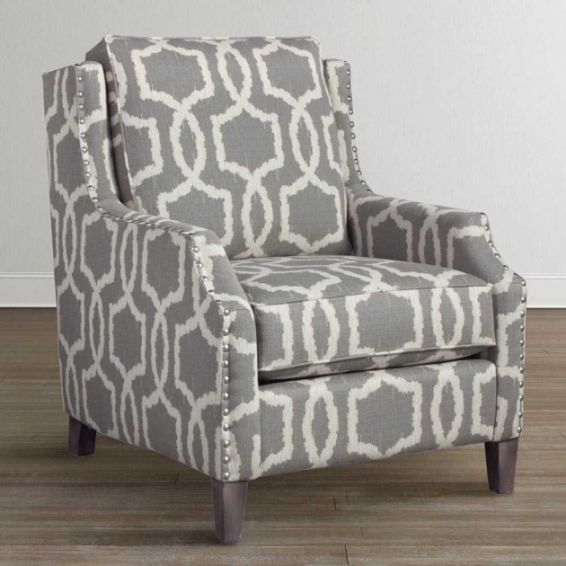 Luxurious Grey Patterned Accent Chair Ideas