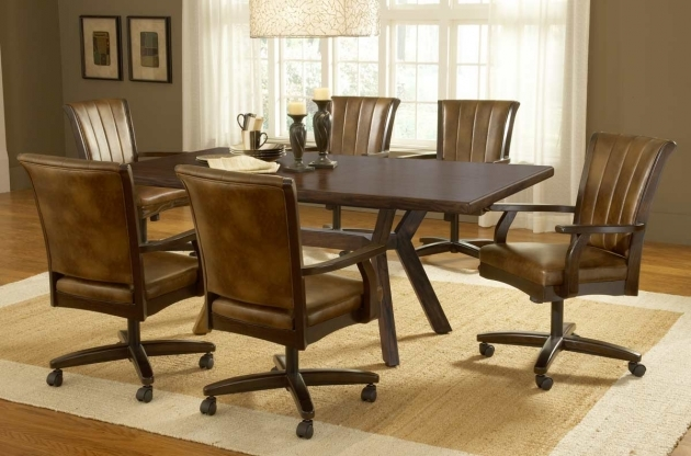 Luxurious Kitchen Table And Chairs With Wheels Image
