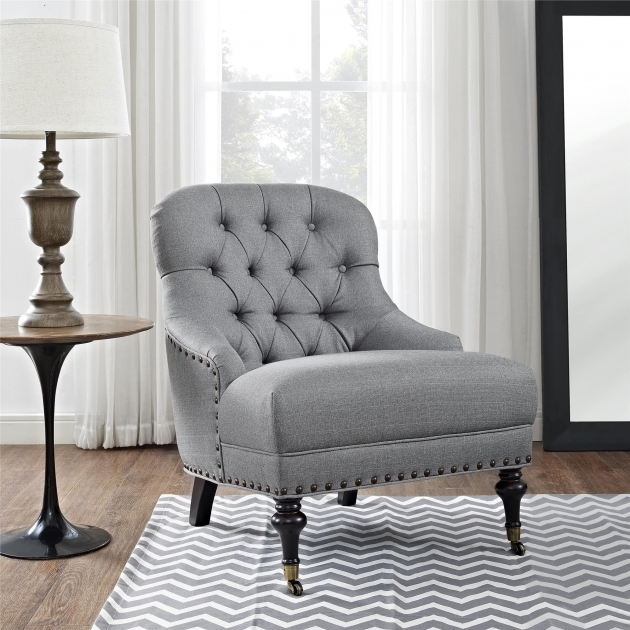 Luxurious Light Gray Accent Chairs Images