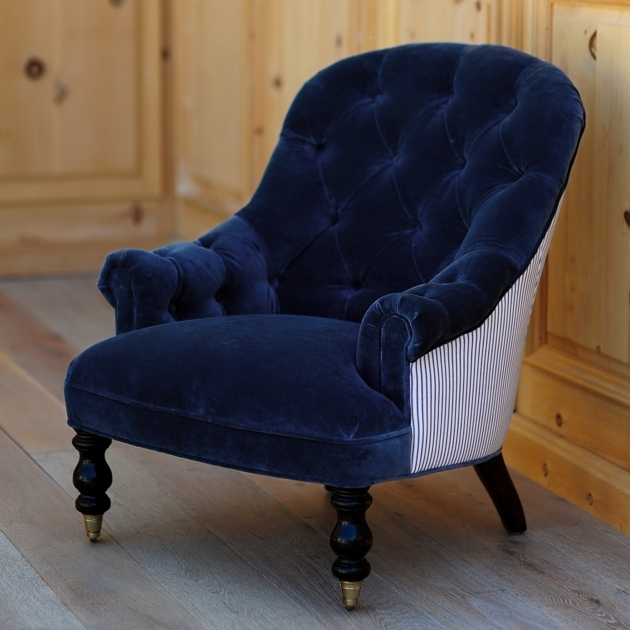 Luxurious Navy Blue Accent Chairs Photo