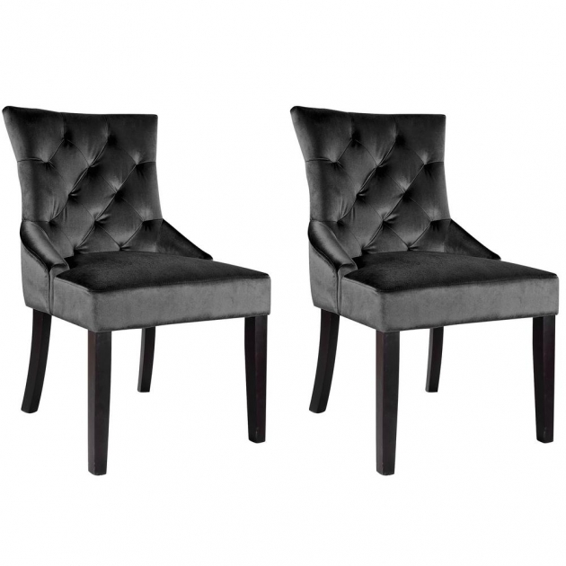 Mesmerizing Black Velvet Accent Chair Pic
