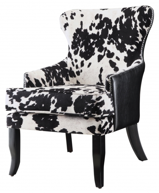 Mesmerizing Cowhide Accent Chair Picture