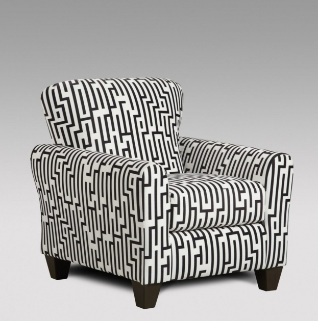Nice Black And White Accent Chairs Pic