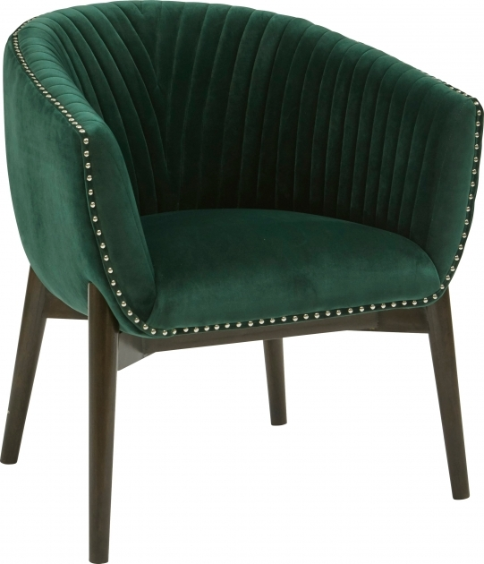 Nice Emerald Green Accent Chair Photo