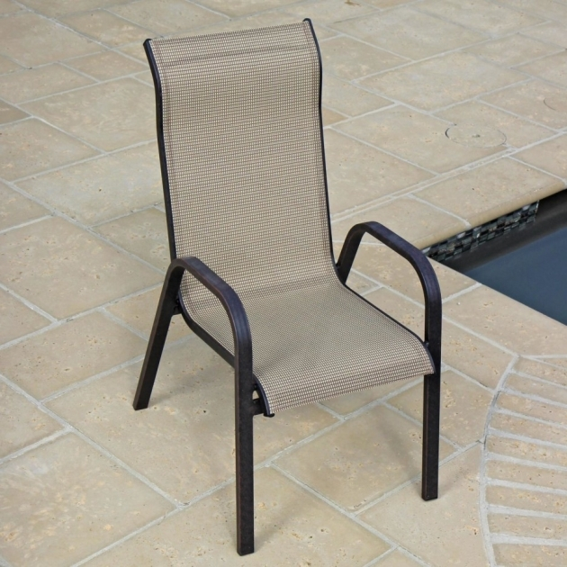 Nice Stackable Sling Patio Chairs Images