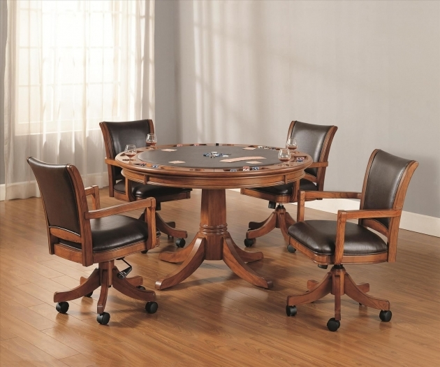 Outstanding Kitchen Table And Chairs With Wheels Photo