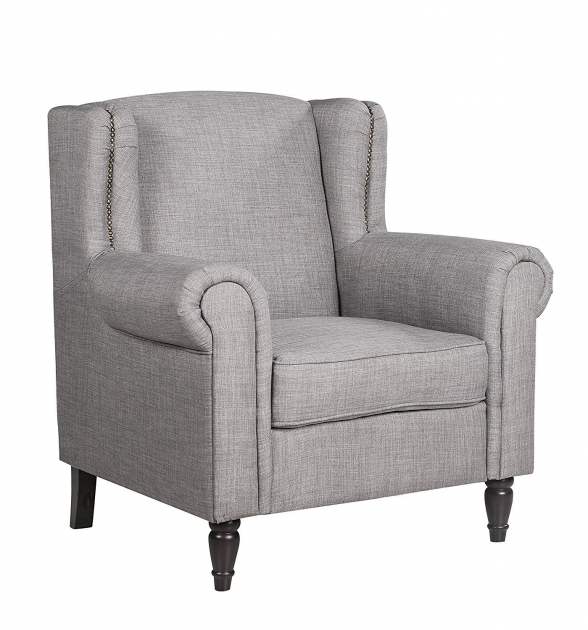 Outstanding Light Grey Accent Chair Pictures