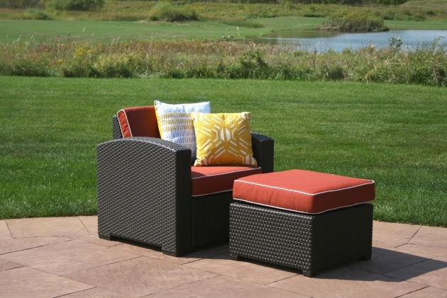 Outstanding Patio Chairs With Ottoman Photos