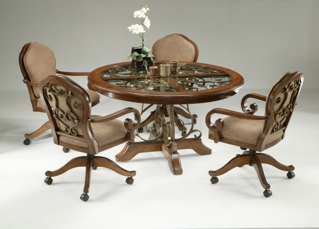 Popular Kitchen Table With Rolling Chairs Pic
