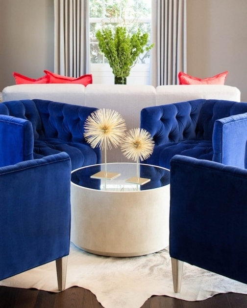 Popular Navy Blue Accent Chairs Pictures